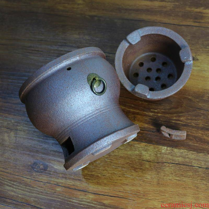 Violet arenaceous coarse ~ chaoshan wind furnace TaoLu small fire red mud portable kung fu tea stove'm boil tea, archaize wooden carbon.