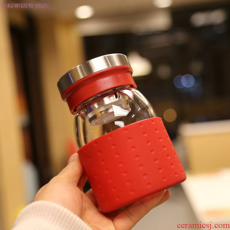 Go out work water glass cup with filtration to hold to tropical cover cups with a cup of high - grade office