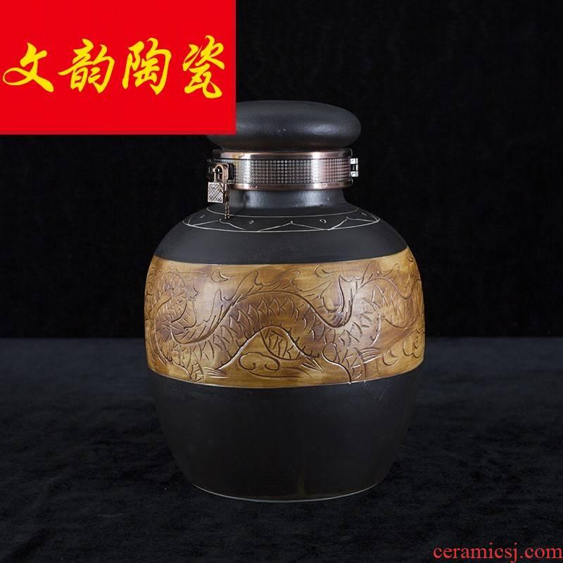 Jingdezhen ceramic jars 10 jins 20 jins 30 jins 50 jins of archaize hip mercifully whose bottle wine jars