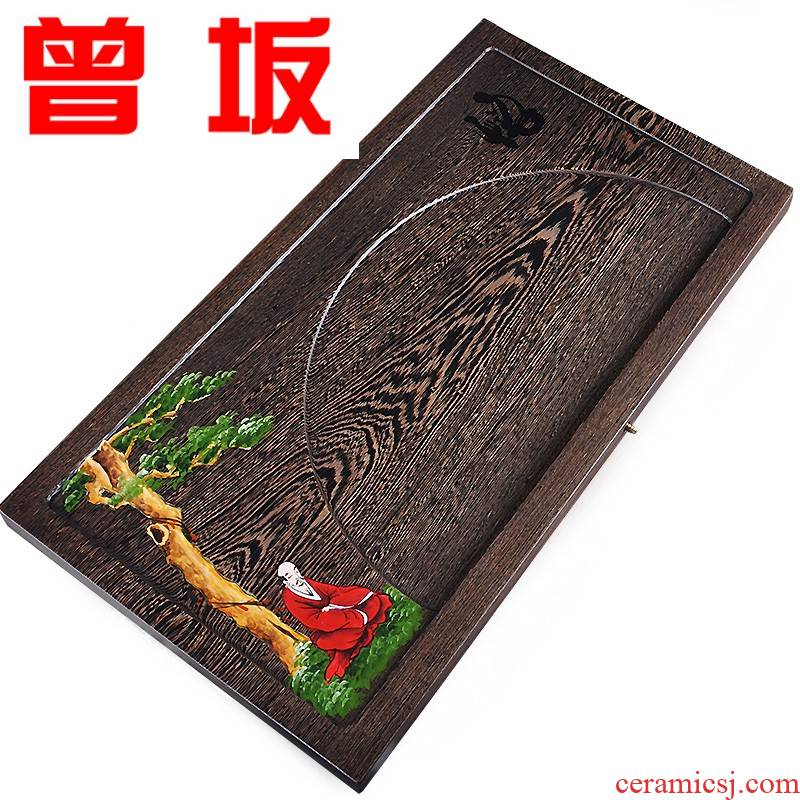Once sitting consolidation chicken wings wood tea tray was solid wood tea sea kung fu tea set drainage saucer dish hand - made rosewood tea table