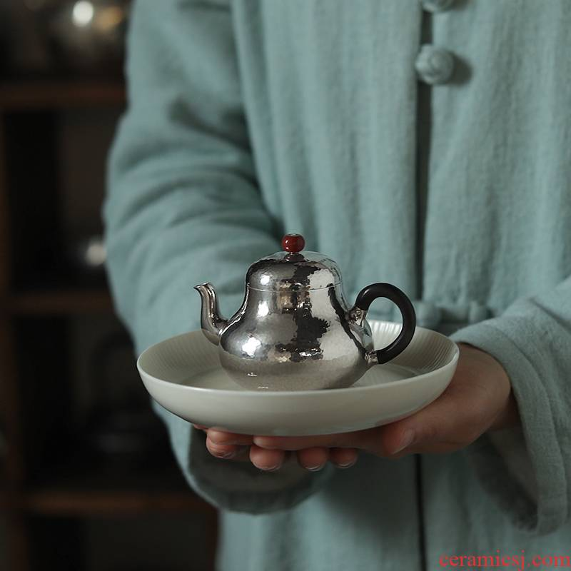 999 Sterling silver, silver pot teapot checking out a dozen Japanese silver pot teapot fine silver, silver pot of dawn dew said