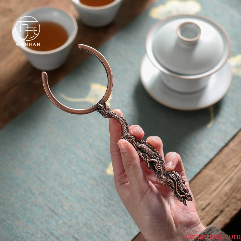 Aluminum alloy bibcock cup fork against the hot cup fork kung fu tea accessories cup tea saucer 6 gentleman accessories