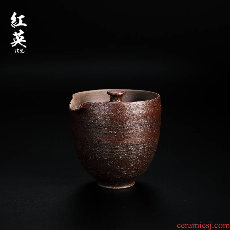 Red the jingdezhen ceramic crack cup teapot coarse pottery checking kung fu tea pot home tea restoring ancient ways
