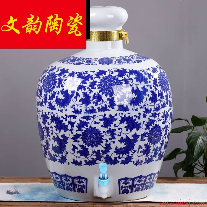 Archaize ceramic jar household liquor bottles of mercifully wine earthenware seal hoard it 100 catties 200 catties