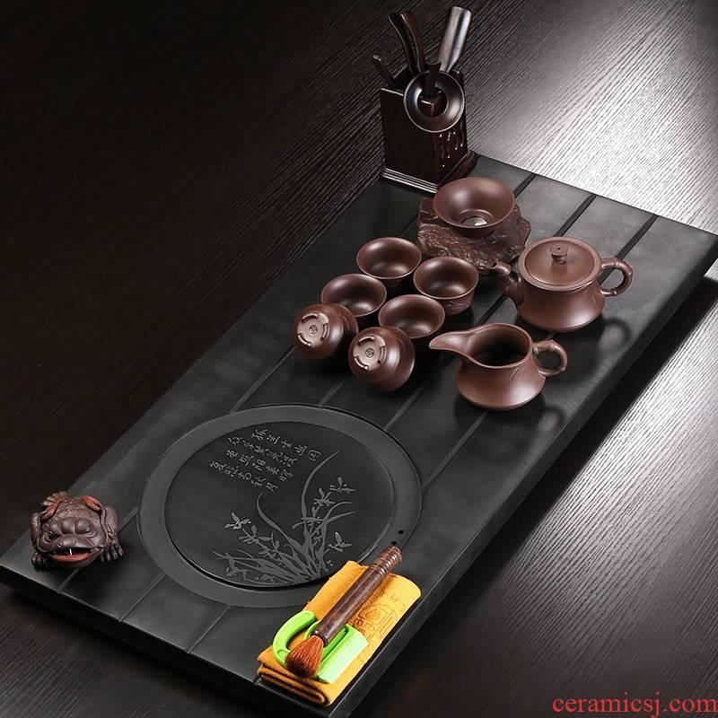 Large coarse pottery tea tray tea tea art sharply stone kung fu tea set for its ehrs household contracted tea set