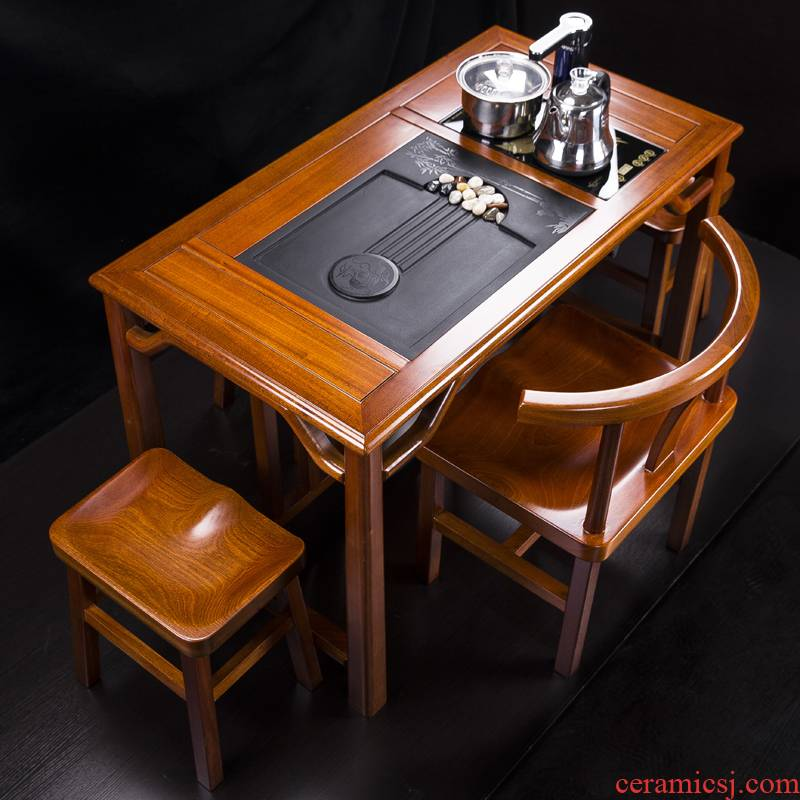 The New Chinese rosewood furniture combination solid wood tea sets of kung fu tea table small balcony tea shabili to B
