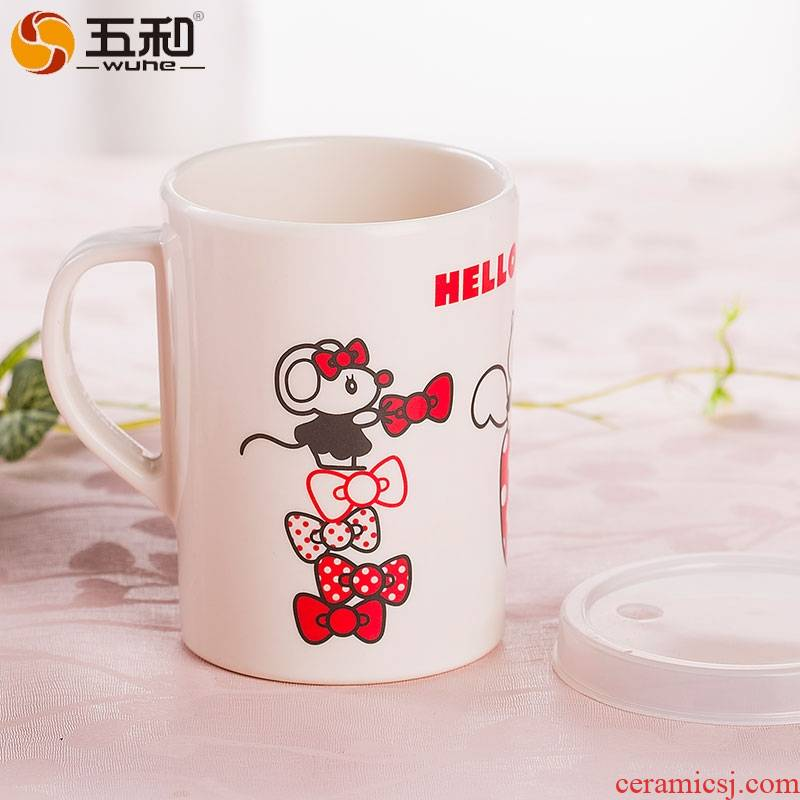 A String of guest pure melamine tableware with cover cup children cup cup milk cup KT - 38 large mugs