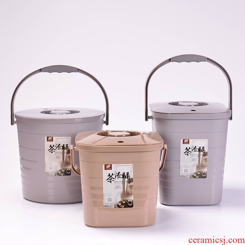 Dross barrels of plastic household garbage waste water barrels of kung fu tea accessories make tea tea tray row bucket bucket size