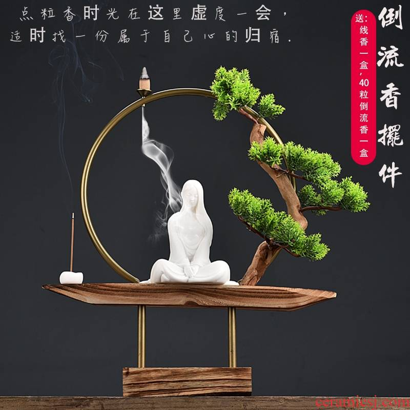 The New Chinese zen tea edge ark back sweet furnishing articles sitting room tea table decoration aromatherapy grid partition decoration