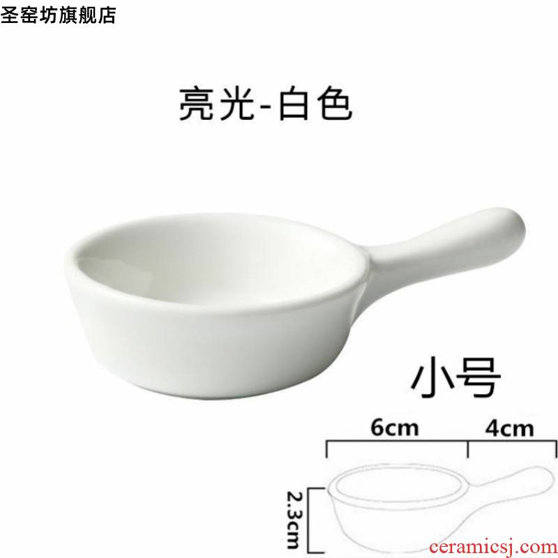 Tableware vinegar dish dip disc creative dishes vinegar dressing small taste oil disc disc ceramic disc round dish meal plate
