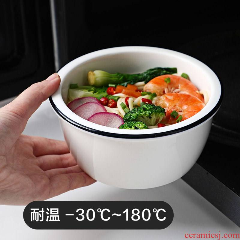 Ceramic terms rainbow such as bowl with cover large soup bowl household utensils bento creative microwave Ceramic bowl bowl of steamed dense eggs