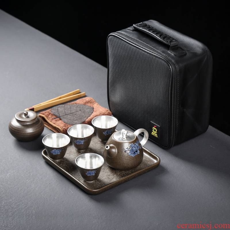 999 sterling silver travel a whole set of kung fu tea set ceramic obsidian is kung fu tea sets manual coppering. As silver dry terms plate