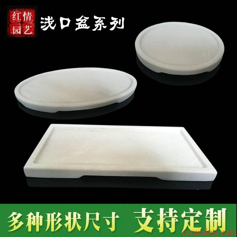 Buy xi basin natural marble flowerpot rectangular water stone rockery miniascape water stone landscape bonsai base