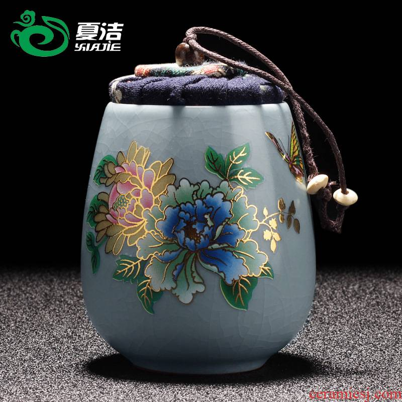 Four - walled yard your up caddy fixings ceramic small sealed moisture - proof drum home puer tea pot crust tank storage tanks