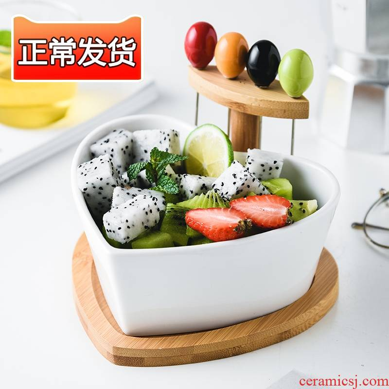 Choi pomelo web celebrity fruit bowl ceramic creative move candy dish of I sitting room home with a fork salad bowl for dessert