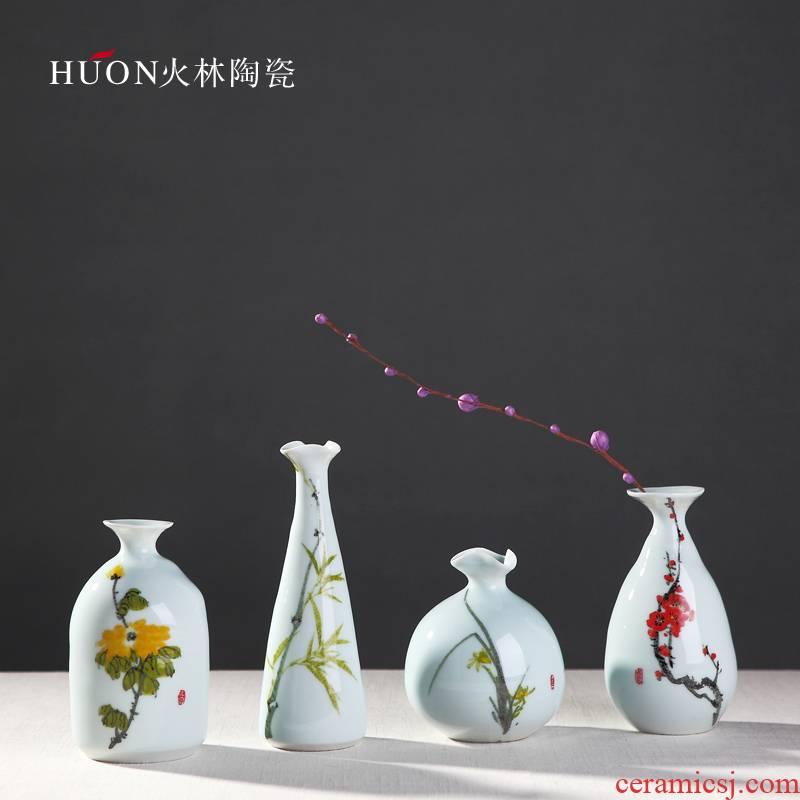 The D8 jingdezhen ceramic modern Chinese style porch simple table counter desktop art furnishing articles floret bottle ornament