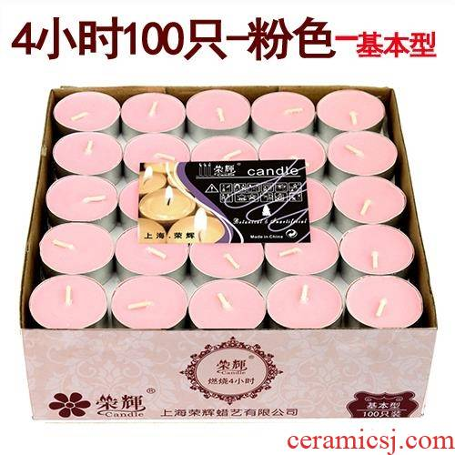 Based small chaffy dish pink flame home cooked tea scene high - grade bedroom romantic fragrance heating low temperature candlestick