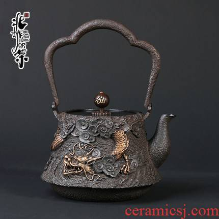 Iron Iron pot of cast Iron tea pot, kettle pot electricity TaoLu teapot household Iron pot of tea, coating
