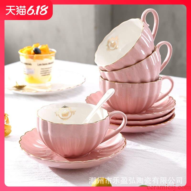 Hold to guest comfortable small European - style key-2 luxury single tea, coffee cups and saucers suit ceramic tea tea utensils cup home in the afternoon