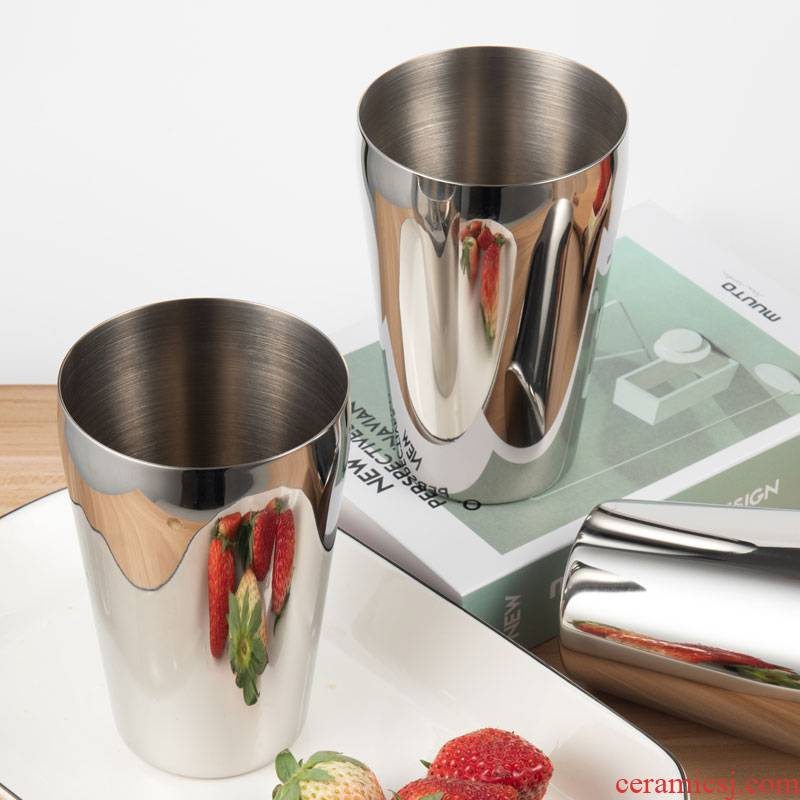 Choi pomelo 304 stainless steel with a cup of ultimately responds a cup of fruit juice milk cup cup beer cup