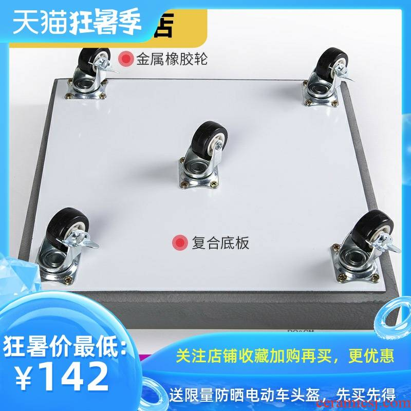The Universal form rich, tray can cement plastic imitation round the base by water moving tetragonal flowerpot leakproof household appliances pulleys