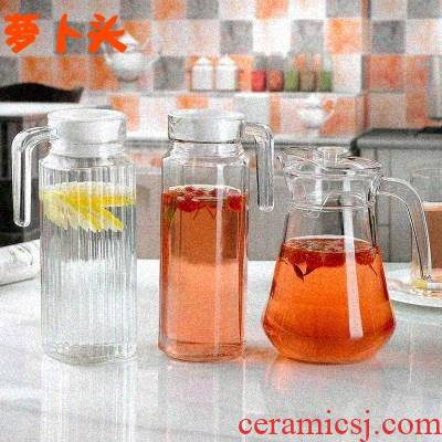 Cool creative ceramic cup with a glass kettle large - capacity glass suits for contracted home sitting room 6 pack with pallet