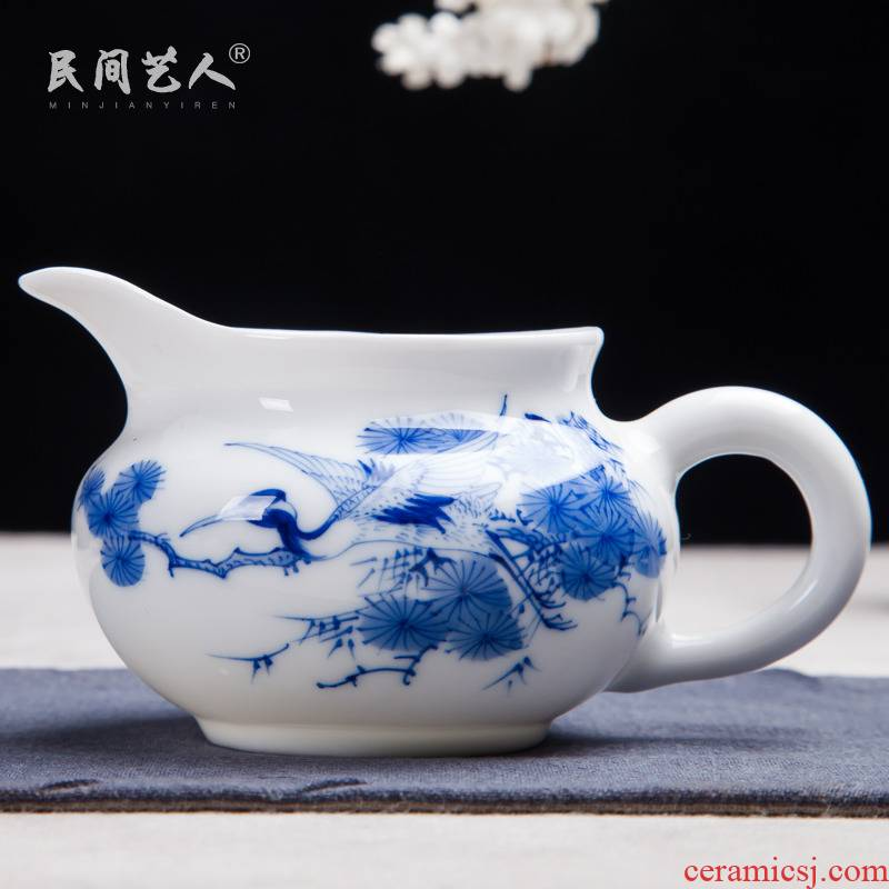 Jingdezhen ceramic fair hand - made porcelain cup manually kung fu tea set points device and a cup of tea cups with mailed the package