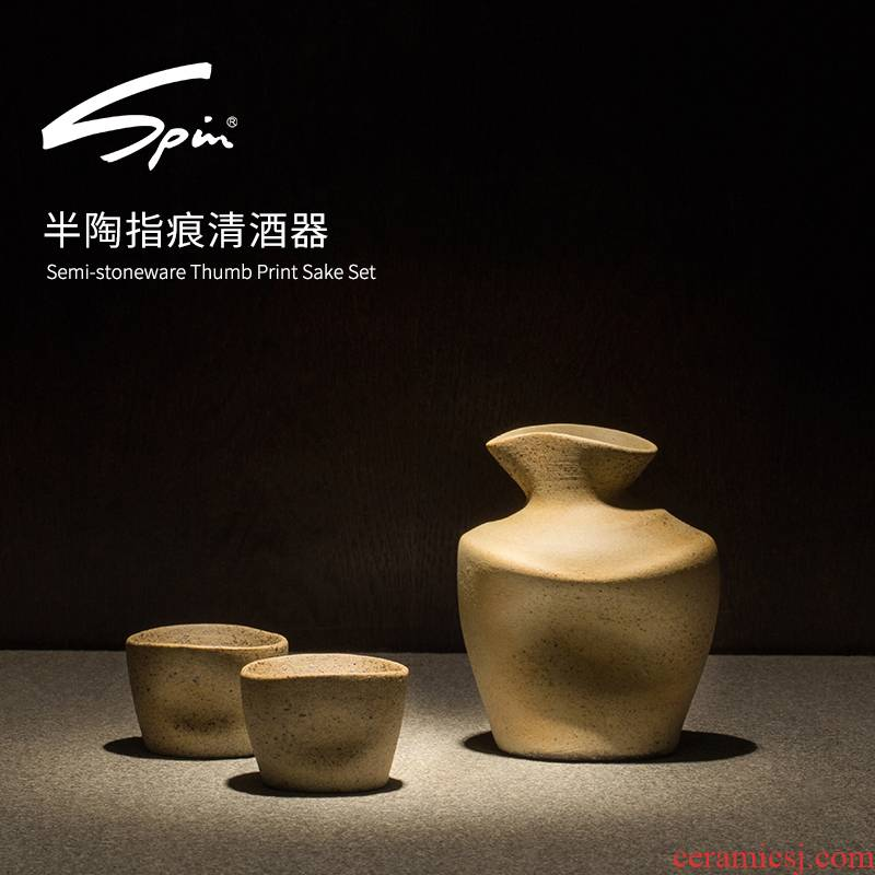 Spin 1/2 tao fingers the qing the qing wine Japanese ceramics hip clear glass wine liquor points set