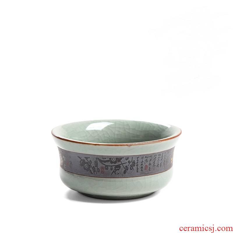 Elder brother up market metrix who cup single cup ice cracked piece sample tea cup kung fu tea set personal single cups of tea light ceramic move