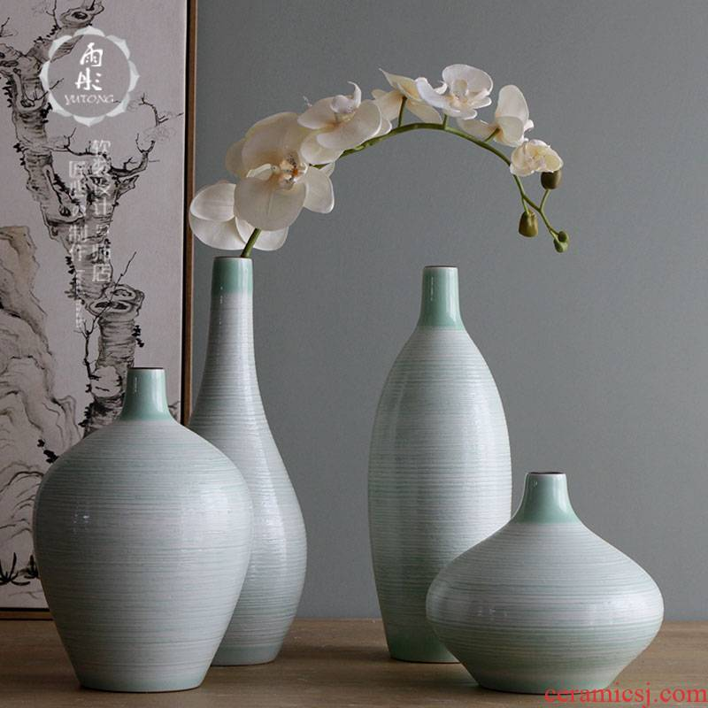 Rain tong home | jingdezhen ceramics craft thread clear fresh air ceramic flower vases, furnishing articles sitting room decoration