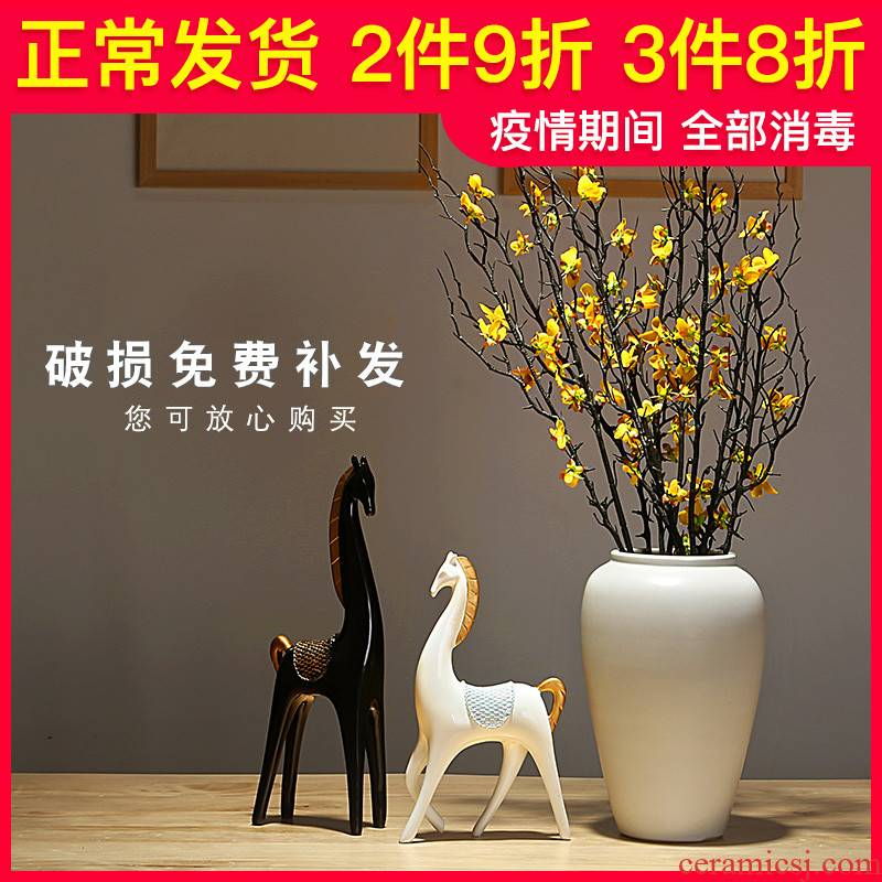 The New Chinese jingdezhen ceramics vase contracted and I home sitting room porch dried flower arranging flowers adornment furnishing articles