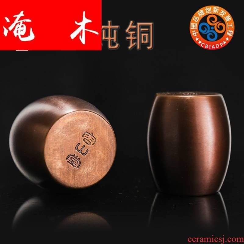 Submerged wood pure copper cover rear metal it cover tureen doesn dry tea saucer cup mat size mat tea accessories