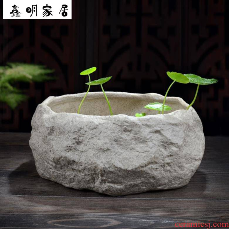 The Fish bowl lotus potted bonsai pot daffodils ceramic water lotus leaf of lotus water for a family with ornamental ceramic art