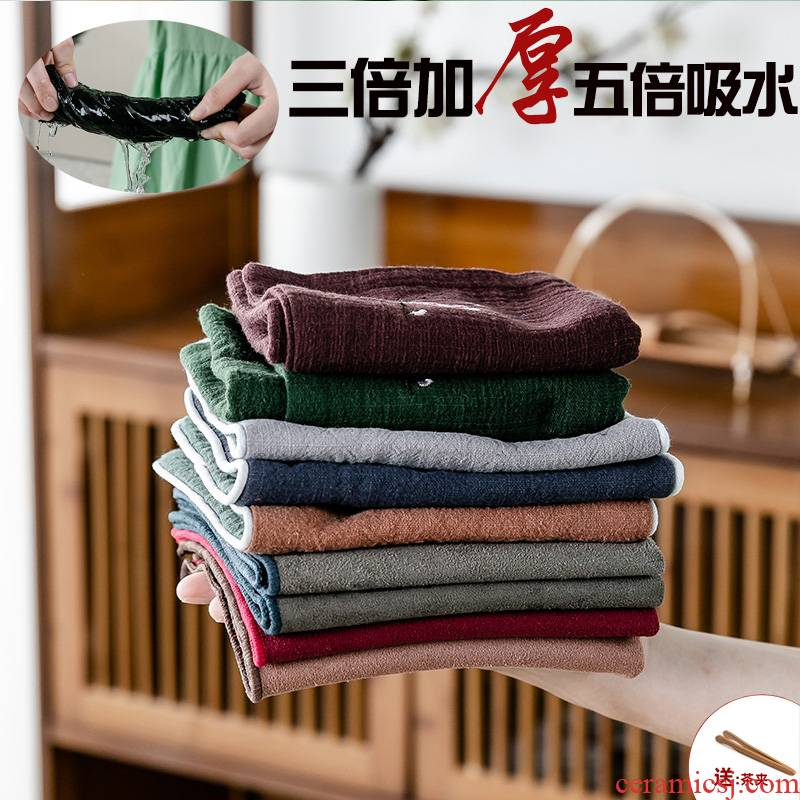 Kongfu tea towel cloth water thickening tea towel special dishcloth tea table cloth accessories zen tea tea table