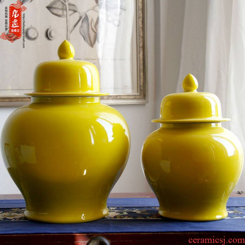 Open to booking a general model of jingdezhen ceramic bottle of blue ceramic pot of flowers of Chinese style household soft outfit place adorn article