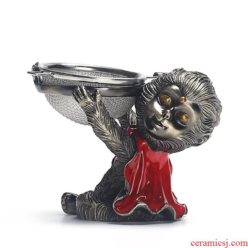 Really creative wukong was cooper) tea pet kung fu tea tea accessories Monkey King tea strainer