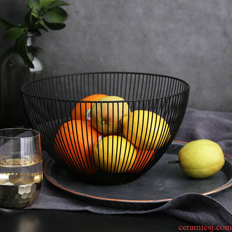 WUXIN web celebrity fruit basket household creative modern fruit bowl northern wind contracted sitting room tea table ins snack plate