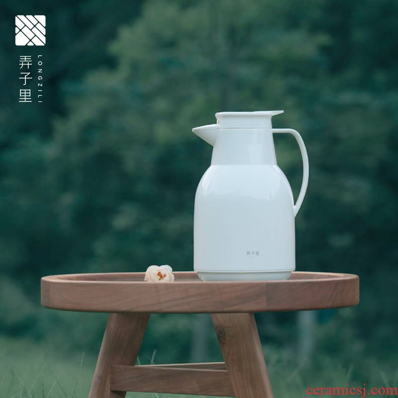 Made in jingdezhen kettle high - capacity portable domestic ivory white dolphins insulation KaiShuiHu kettle