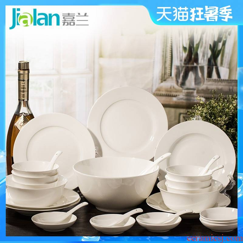 Garland 28 head ipads China porcelain tableware suit Chinese ceramic home dishes suit contracted plate
