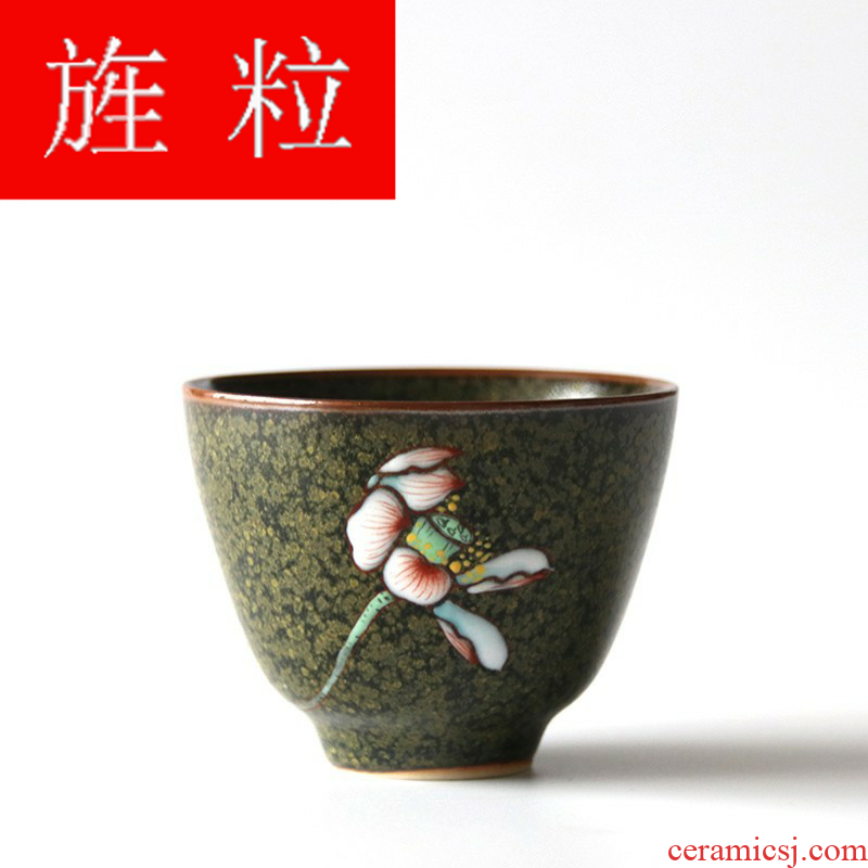 Continuous grain of dust glaze ceramic cups built light porcelain flower sample tea cup cup tea bowl, cup from the master