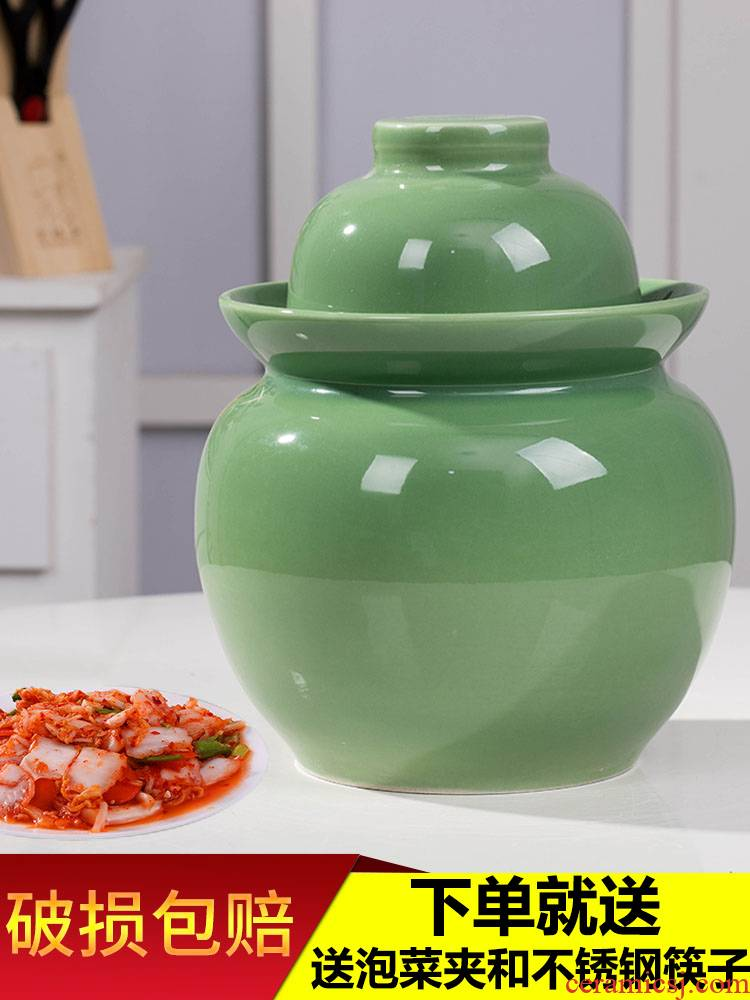 Sichuan pickle jar of household ceramics with cover seal pot earthenware thickening sauerkraut pickle jar jar pickle jar