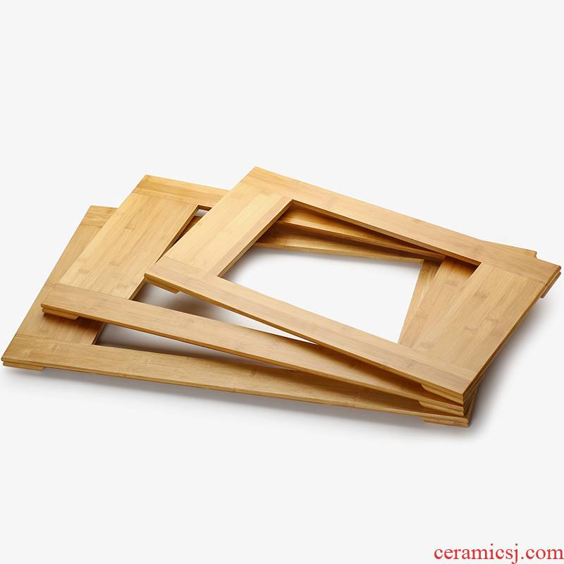 Sharply stone tea tray bamboo tea tray was supporting bracket base size bamboo mat bamboo board accessories home furnishing articles stone tea table