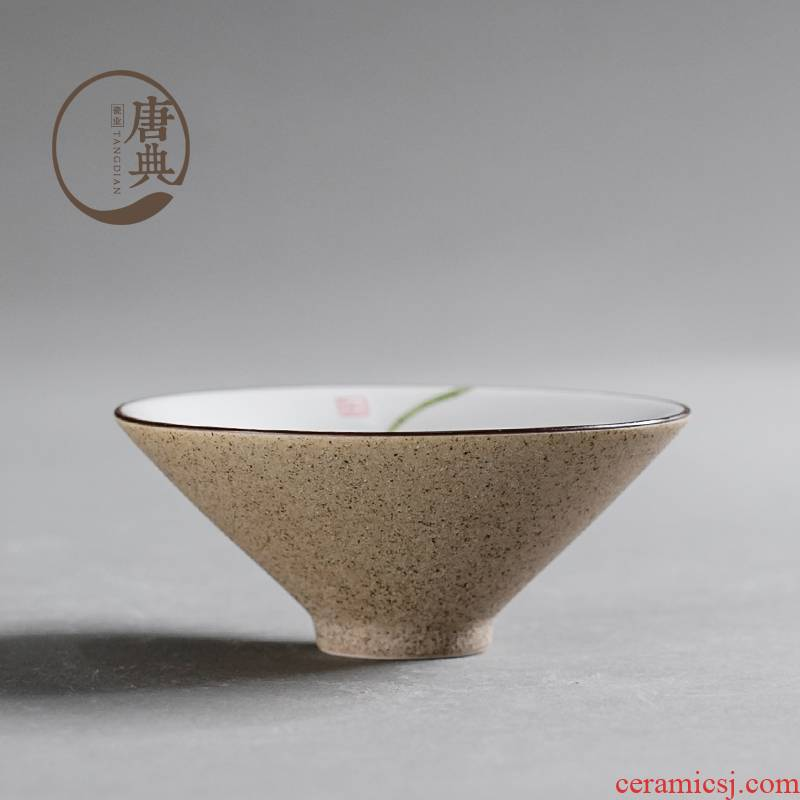 Shu of jingdezhen hand - made of ceramic cups a single master cup tea sample tea cup six kung fu tea set at upstream