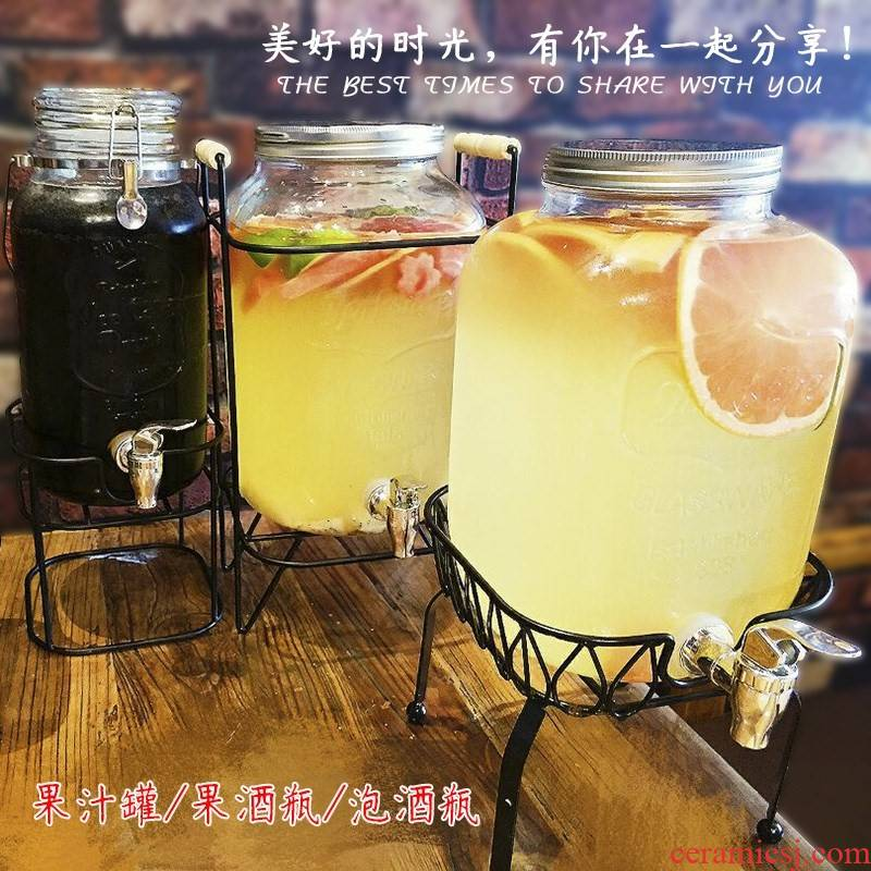 Lead - free glass mercifully juice cylinder seal beer bottle take the Lead ding drinks bucket cold ultimately responds juice pot buffet