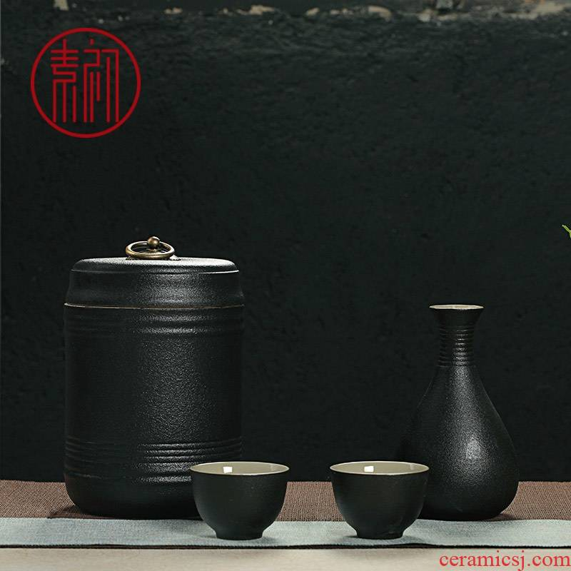 Grain ceramic yellow wine wine temperature at the beginning of hip hot warm flagon flagon home half jins of wine glass decanters
