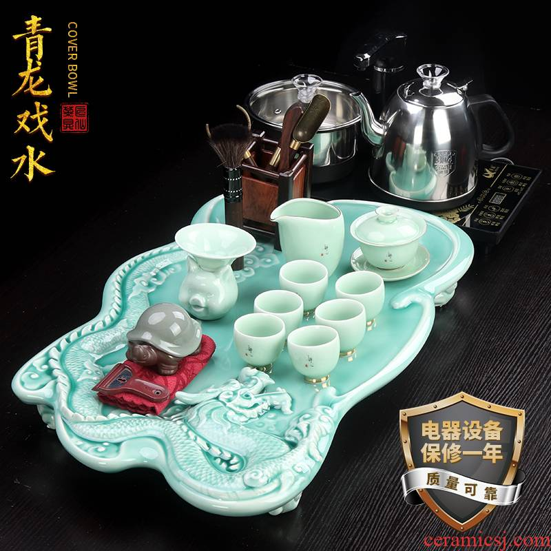 Artisan fairy celadon tea sets tea tray was home sitting room Japanese kung fu tea tea sets tea set