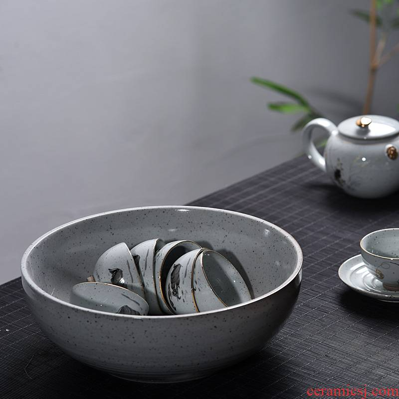 Kung fu tea tea with parts hand - made officer ceramic creative tea wash to wash to size ceramic cup for wash tank tea