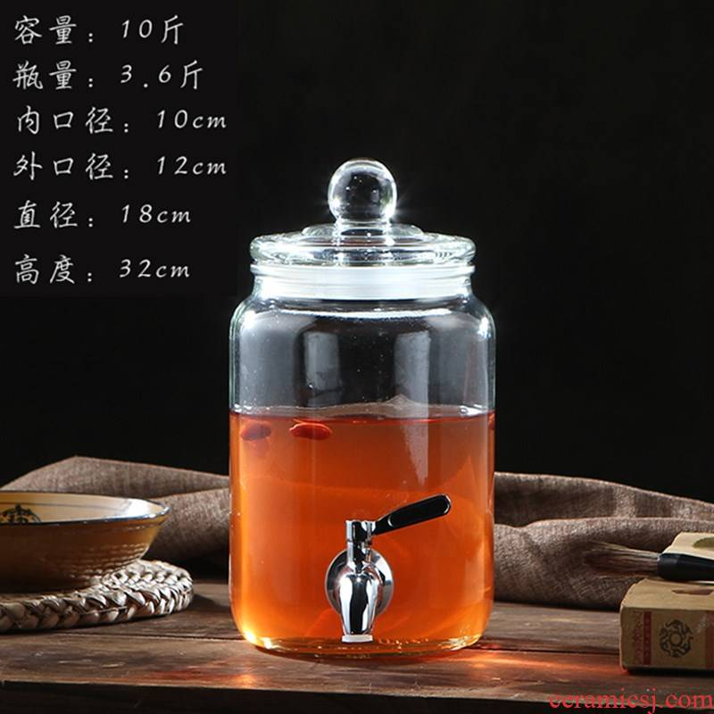 Edge, a night at home 3 kg sealed mercifully wine jar 5 jins of the loaded with stainless steel faucet ice bucket bottle wine wine