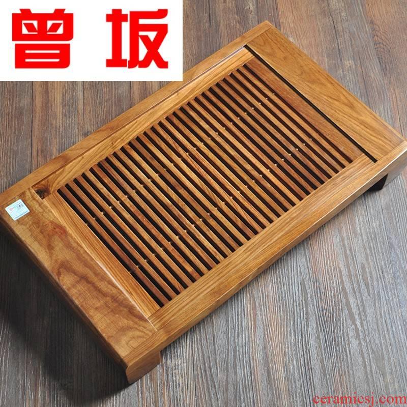 The Who -- tea tray was huang hua limu tea tray was solid wood tea tray was large drawer kung fu tea set solid wood tea tea