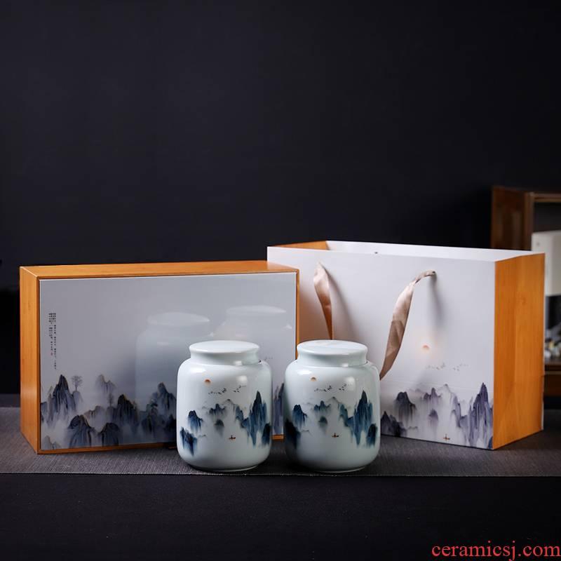 Caddy fixings packaging gift boxes empty empty box gift box longjing green tea, white tea, black tea in the common custom